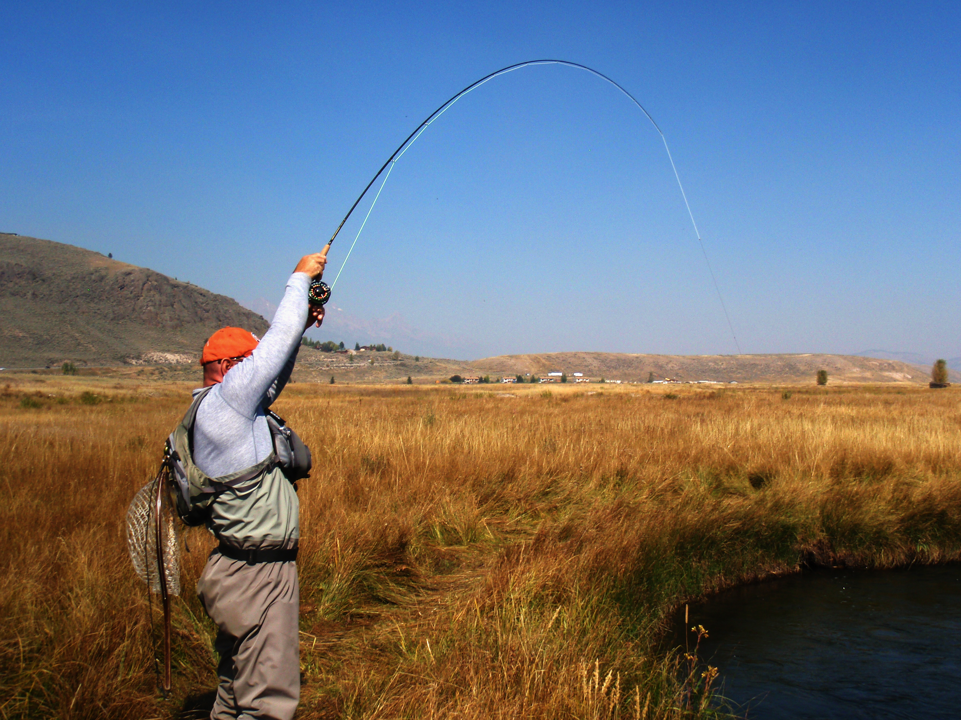 how to set up fly fishing line