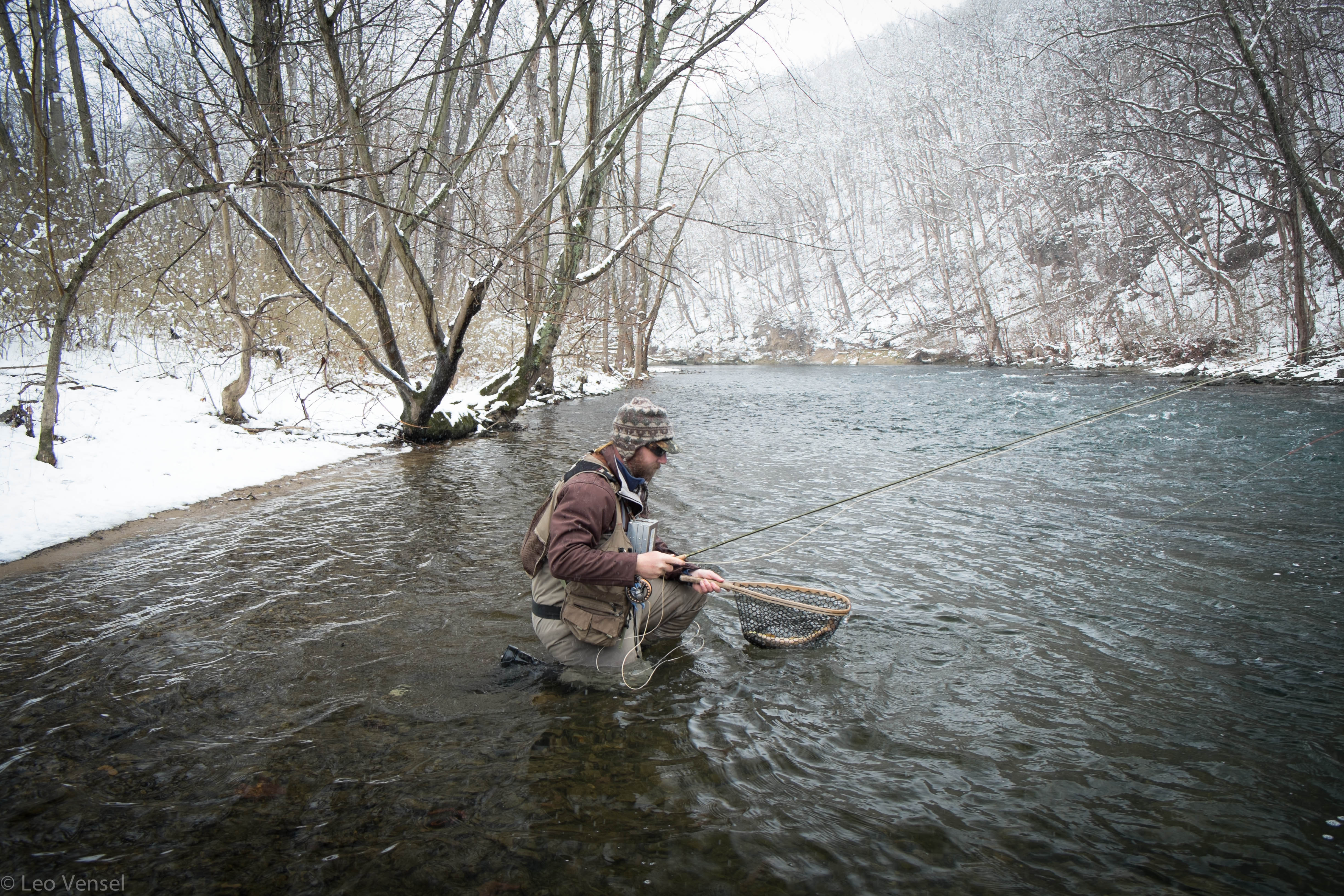 Winter fly fishing on the little juniata river pa fly for Fly fishing pa